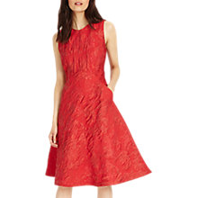 Buy Phase Eight Gertie Jacquard Dress, Carmine Red Online at johnlewis.com