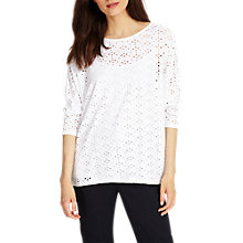 Buy Phase Eight Patience Pointelle Top, White Online at johnlewis.com