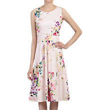 Buy Jolie Moi 50s Floral Pleated Dress, Pink Online at johnlewis.com