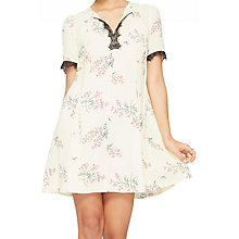 Buy Miss Selfridge Floral Print Tea Dress, Pale Yellow/Multi Online at johnlewis.com