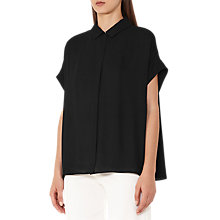 Buy Reiss Simi Short Sleeve Blouse, Black Online at johnlewis.com