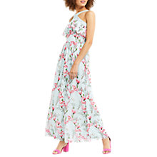 Buy Oasis Magnolia Chiffon Maxi Dress, Multi Blue Online at johnlewis.com