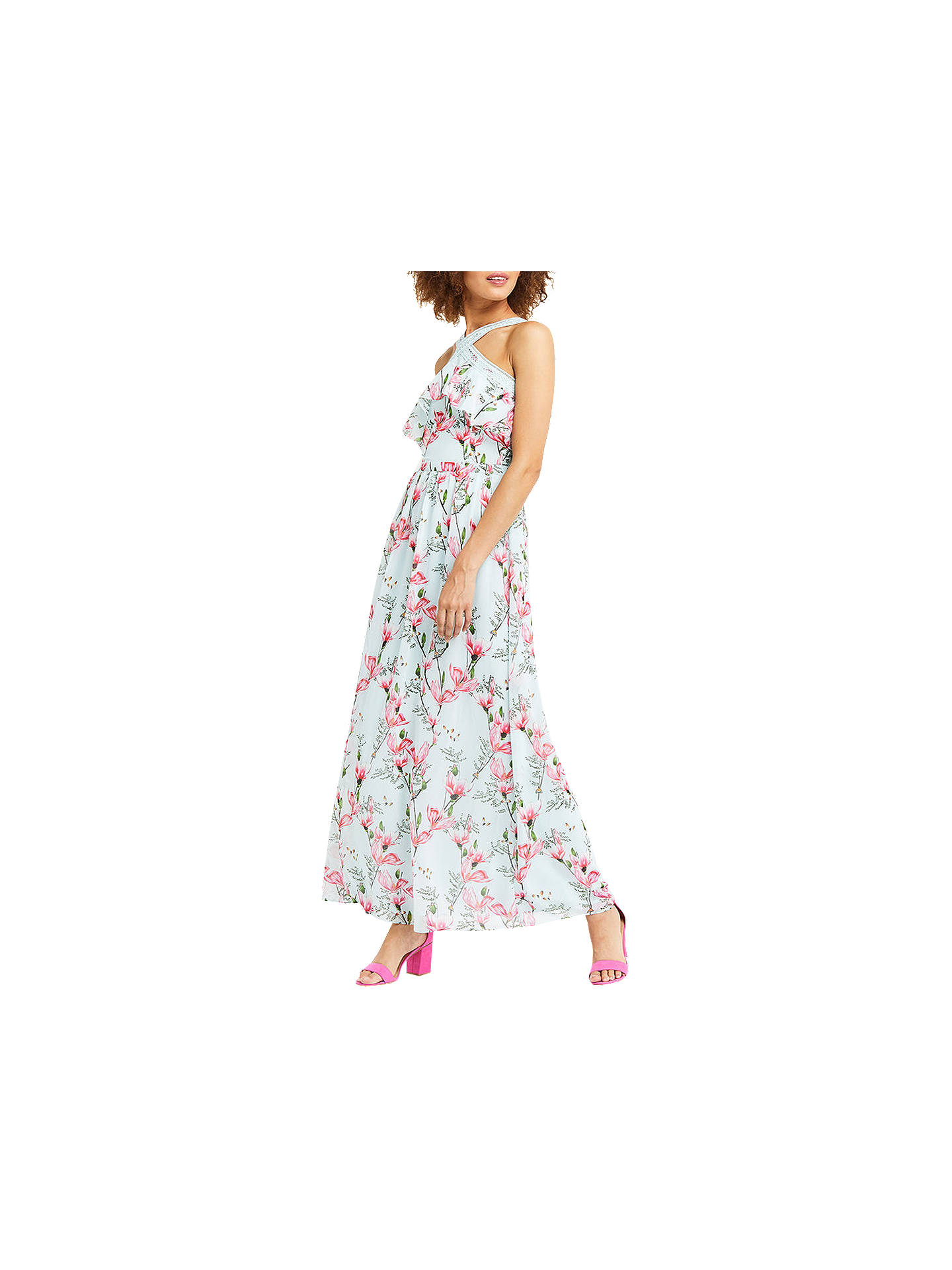 60ca8215c760 Buy Oasis Magnolia Chiffon Maxi Dress, Multi Blue, 6 Online at  johnlewis.com ...