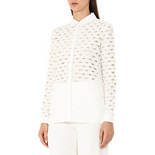 Buy Reiss Simonetta Lace Blouse, Off White Online at johnlewis.com