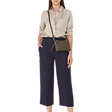 Buy Reiss Launi Cropped Trousers, Night Navy Online at johnlewis.com