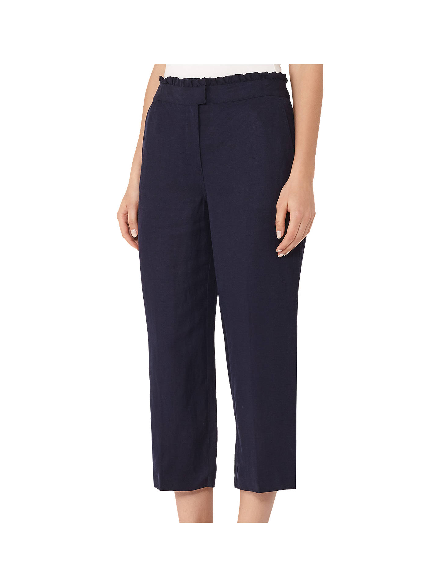 BuyReiss Launi Cropped Trousers, Night Navy, 6 Online at johnlewis.com