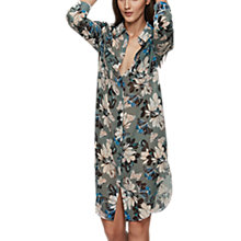 Buy Reiss Pandora Print Dress, Multi Green Online at johnlewis.com