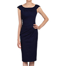 Buy Jolie Moi Ruched 40s Wiggle Dress, Navy Online at johnlewis.com