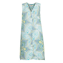 Buy East Linen Kashmir Print Dress, Lime Online at johnlewis.com