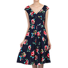 Buy Jolie Moi Floral Sweetheart Neck Swing Dress, Navy Online at johnlewis.com