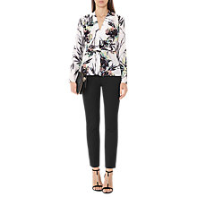 Buy Reiss Maria Printed Top, White/Multi Online at johnlewis.com