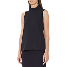 Buy Reiss Sabrina Neck Detail Top, Night Navy Online at johnlewis.com