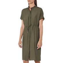 Buy Reiss Isabeli Gathered Waist Dress, Pine Online at johnlewis.com