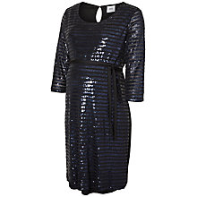 Buy Mamalicious Rhina Maternity Jersey Sequin Dress, Black Online at johnlewis.com