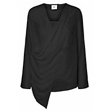 Buy Mamalicious Dilara Tess Long Sleeve Woven Top, Black Online at johnlewis.com