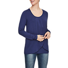 Buy Mamalicious Lonni Iris Long Sleeve Jersey Nursing Top, Navy Online at johnlewis.com
