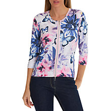 Buy Betty Barclay Blossom Cardigan, Cream/Pink Online at johnlewis.com