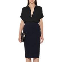 Buy Reiss Guardian Knitted Pencil Skirt, Night Navy Online at johnlewis.com