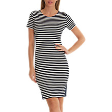 Buy Betty Barclay Striped Jersey Dress, Dark Blue/Cream Online at johnlewis.com