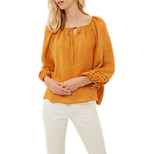 Buy Jaeger Tie-Neck Top, Orange Online at johnlewis.com