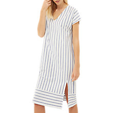 Buy Jaeger Jersey Striped Midi Dress, Multi/Blue Online at johnlewis.com