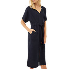Buy Jaeger Belted Kaftan Midi Dress, Navy Online at johnlewis.com
