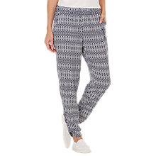 Buy Betty Barclay Printed Trousers, Dark Blue/Cream Online at johnlewis.com
