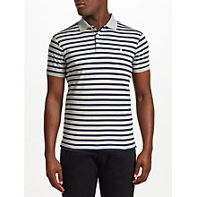 Buy Polo Ralph Lauren Stripe Slim Polo Shirt, Andover Heather Multi Online at johnlewis.com