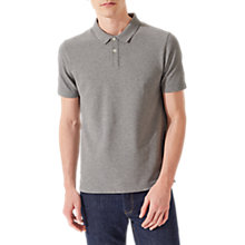 Buy Jigsaw Dalton Short Sleeve Pique Polo Shirt, Grey Melange Online at johnlewis.com