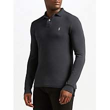 Buy Polo Ralph Lauren Long Sleeve Polo Shirt, Dark Carbon Grey Online at johnlewis.com