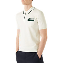 Buy Jigsaw Contrast Tipping Short Sleeve Polo Shirt, Ecru Online at johnlewis.com