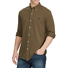 Buy Polo Ralph Lauren Long Sleeve Shirt, Defender Green Online at johnlewis.com