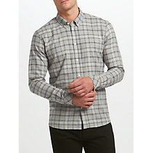 Buy Samsoe & Samsoe Jay Check Shirt, Grey Melange Check Online at johnlewis.com