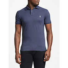 Buy Polo Ralph Lauren Short Sleeve Slim Polo Shirt, Boston Navy Online at johnlewis.com
