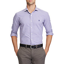 Buy Polo Ralph Lauren Long Sleeve Sports Shirt, Purple/White Online at johnlewis.com
