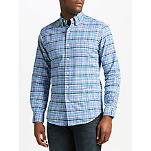 Buy Polo Ralph Lauren Long Sleeve Sports Shirt, Multi Blue/Lavender Online at johnlewis.com
