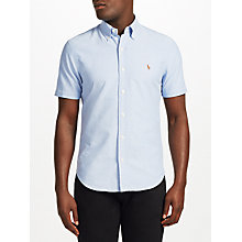 Buy Polo Ralph Lauren Short Sleeve Sports Shirt, Bsr Blue Online at johnlewis.com