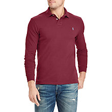 Buy Polo Ralph Lauren Long Sleeve Rugby Shirt, Fall Burgundy Online at johnlewis.com