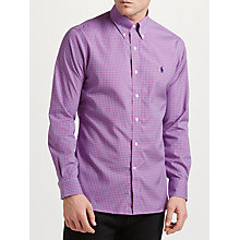 Buy Polo Ralph Lauren Long Sleeve Checked Shirt, Plum/Teal Online at johnlewis.com