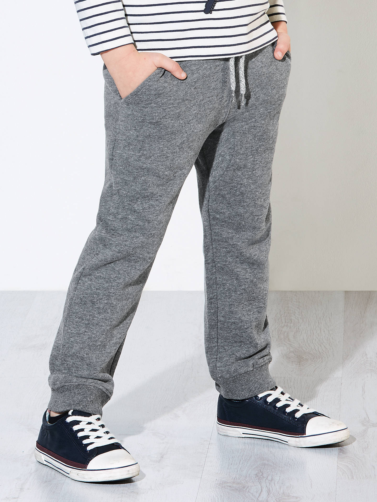 0957afcba5699f Buy John Lewis & Partners Boys' Stripe Jogger, Charcoal, 2 years Online at  ...