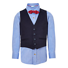 Buy John Lewis Boys' Shirt, Bow Tie And Waist Coat Set, Blue Online at johnlewis.com