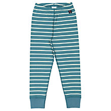 Buy Polarn O. Pyret Children's Striped Thermal Long Johns, Blue Online at johnlewis.com