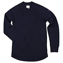 Buy Polarn O. Pyret Children's Long Sleeve Top, Navy Online at johnlewis.com
