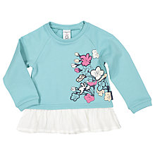 Buy Polarn O. Pyret Baby Floral Sweatshirt Top, Blue Online at johnlewis.com