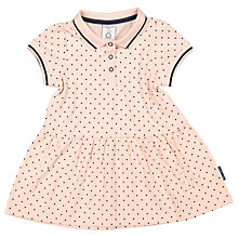 Buy Polarn O. Pyret Baby Polo Spotted Short Sleeve Dress, Pink Online at johnlewis.com