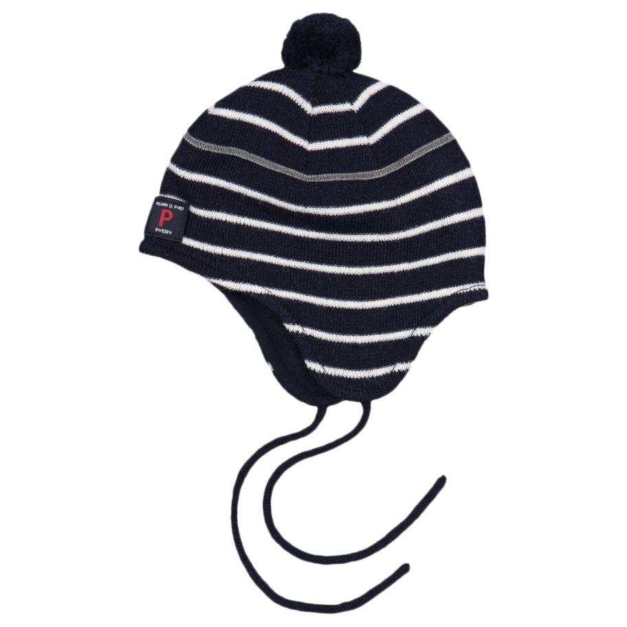 6dcedef88e4 Polarn O. Pyret Baby Merino Wool Stripe Hat at John Lewis   Partners