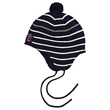 Buy Polarn O. Pyret Baby Merino Wool Stripe Hat Online at johnlewis.com