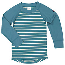 Buy Polarn O. Pyret Children's Stripe Thermal Long Sleeve Top, Blue Online at johnlewis.com