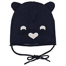 Buy Polarn O. Pyret Baby Bear Hat, Navy Online at johnlewis.com