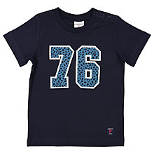 Buy Polarn O. Pyret Baby Graphic Number T-Shirt, Navy Online at johnlewis.com